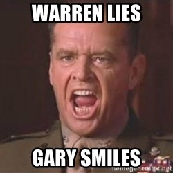 Jack Nicholson - You can't handle the truth! - warren lies Gary smiles