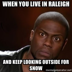 kevin hart nigga - When you live in Raleigh  And keep looking outside for snow