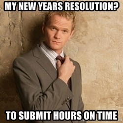 Neil Patrick Harris - my new years resolution? to submit hours on time