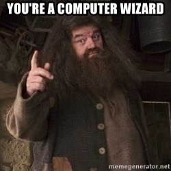 Hagrid - you're a computer wizard