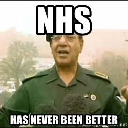 Iraqi Information Minister - Nhs Has never been better