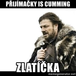 Winter is Coming - přijímačky is cumming zlatíčka