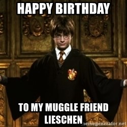 Harry Potter Come At Me Bro - Happy Birthday  To my muggle friend Lieschen