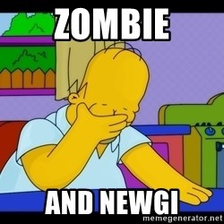 Homer Facepalm - Zombie And NewGi