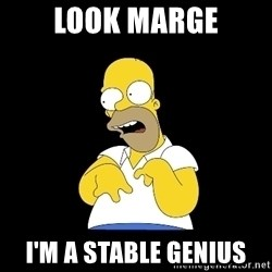 look-marge - Look Marge I'm a stable genius
