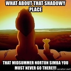 simba mufasa - What about that shadowy place That Midsummer Norton Simba you must never go there!!!