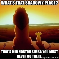 simba mufasa - What's that shadowy place? That's Mid Norton Simba you must never go there.