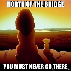 simba mufasa - North of the bridge You must never go there