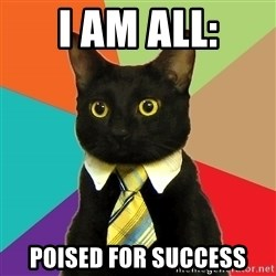 Business Cat - i AM ALL: Poised for success