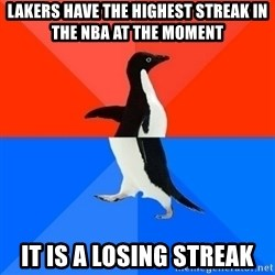 Socially Awesome Awkward Penguin - Lakers have the highest streak in the nba at the moment It is a losing streak