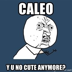Y U No - Caleo Y U No cute anymore?