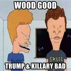 Beavis and butthead - Wood Good Trump & Killary Bad