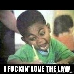 Black kid coloring - I fuckin' love the law