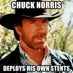 Brutal Chuck Norris - Chuck Norris  Deploys his own stents