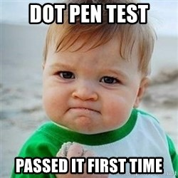 Victory Baby - DOT PEN TEST PASSED IT FIRST TIME
