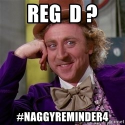 Willy Wonka - Reg  D ? #naggyreminder4