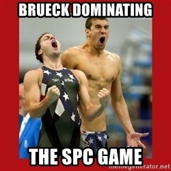 Ecstatic Michael Phelps - Brueck Dominating  the SPC GAME