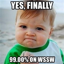Victory Baby - Yes, Finally 99.00% on WSSW