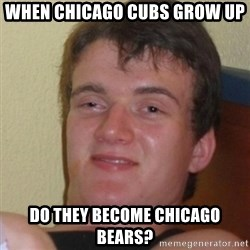 Stoner Stanley - When Chicago Cubs grow up do they become Chicago Bears?