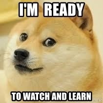 dogeee - I'm  ready  to watch and Learn