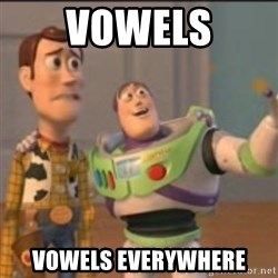 Buzz - Vowels Vowels everywhere