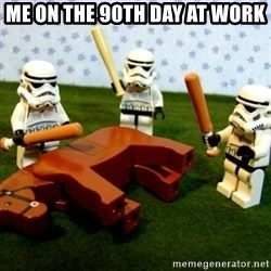 Beating a Dead Horse stormtrooper - me on the 90th day at work