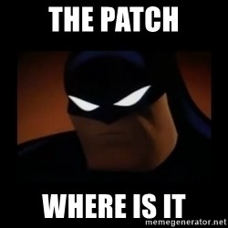 Disapproving Batman - The patch where is it