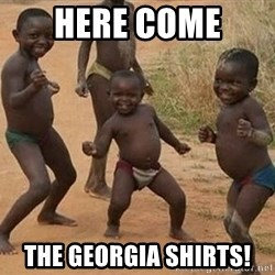 Dancing african boy - Here come  the Georgia shirts!