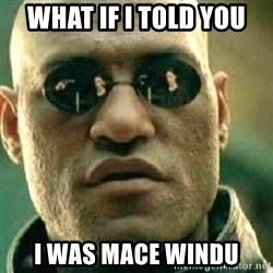 What If I Told You - What if i told you i was mace windu