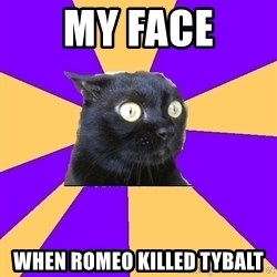 Anxiety Cat - my face when romeo killed tybalt