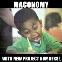 Black kid coloring - Maconomy with new project numbers!
