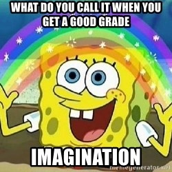 Imagination - what do you call it when you get a good grade Imagination
