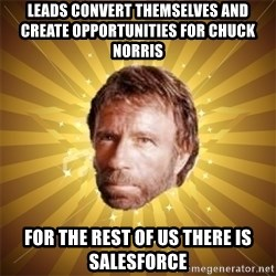 Chuck Norris Advice - Leads convert themselves and create opportunities for Chuck Norris For the rest of us there is Salesforce