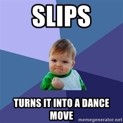 Success Kid - Slips Turns it into a dance move