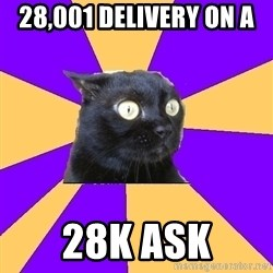 Anxiety Cat - 28,001 delivery on a  28K ask
