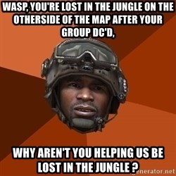 Sgt. Foley - WASP, You're lost in the jungle on the otherside of the map after your group DC'd, Why aren't you helping us be lost in the jungle ?