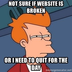 Futurama Fry - not sure if website is broken or i need to quit for the day