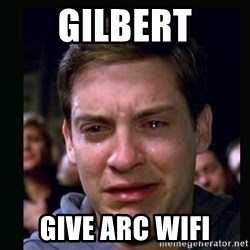 crying peter parker - GILBERT GIVE ARC WIFI