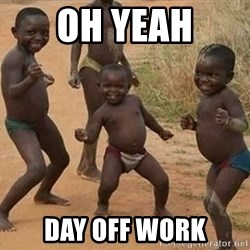 Dancing african boy - Oh yeah Day off work