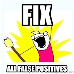 All the things - fix all false positives