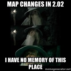 Confused Gandalf - Map changes in 2.02 I have no memory of this place