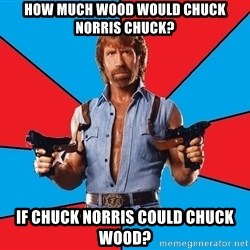 Chuck Norris  - How much wood would Chuck Norris chuck? If Chuck Norris could chuck wood?