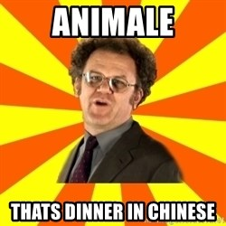 Dr. Steve Brule - ANIMALE Thats dinner in chinese