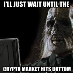 OP will surely deliver skeleton - I'll Just wait until the  Crypto market hits bottom