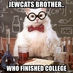 Chemistry Cat - Jewcats brother.. Who finished college