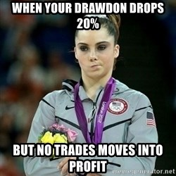 McKayla Maroney Not Impressed - When your drawdon drops 20% but no trades moves into profit