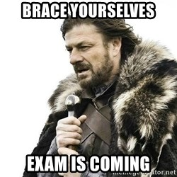 Brace Yourself Winter is Coming. - BRACE YOURSELVES exam is coming