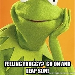 Kermit the frog - Feeling Froggy?  Go on and Leap Son!