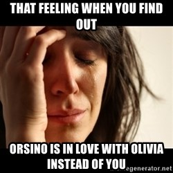 crying girl sad - that feeling when you find out orsino is in love with olivia instead of you