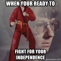 PTSD Karate Kyle - when your ready to  fight for your independence